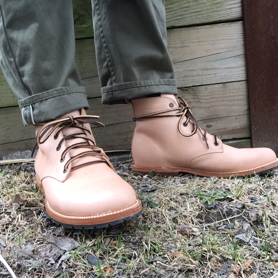 Amateur boot leather